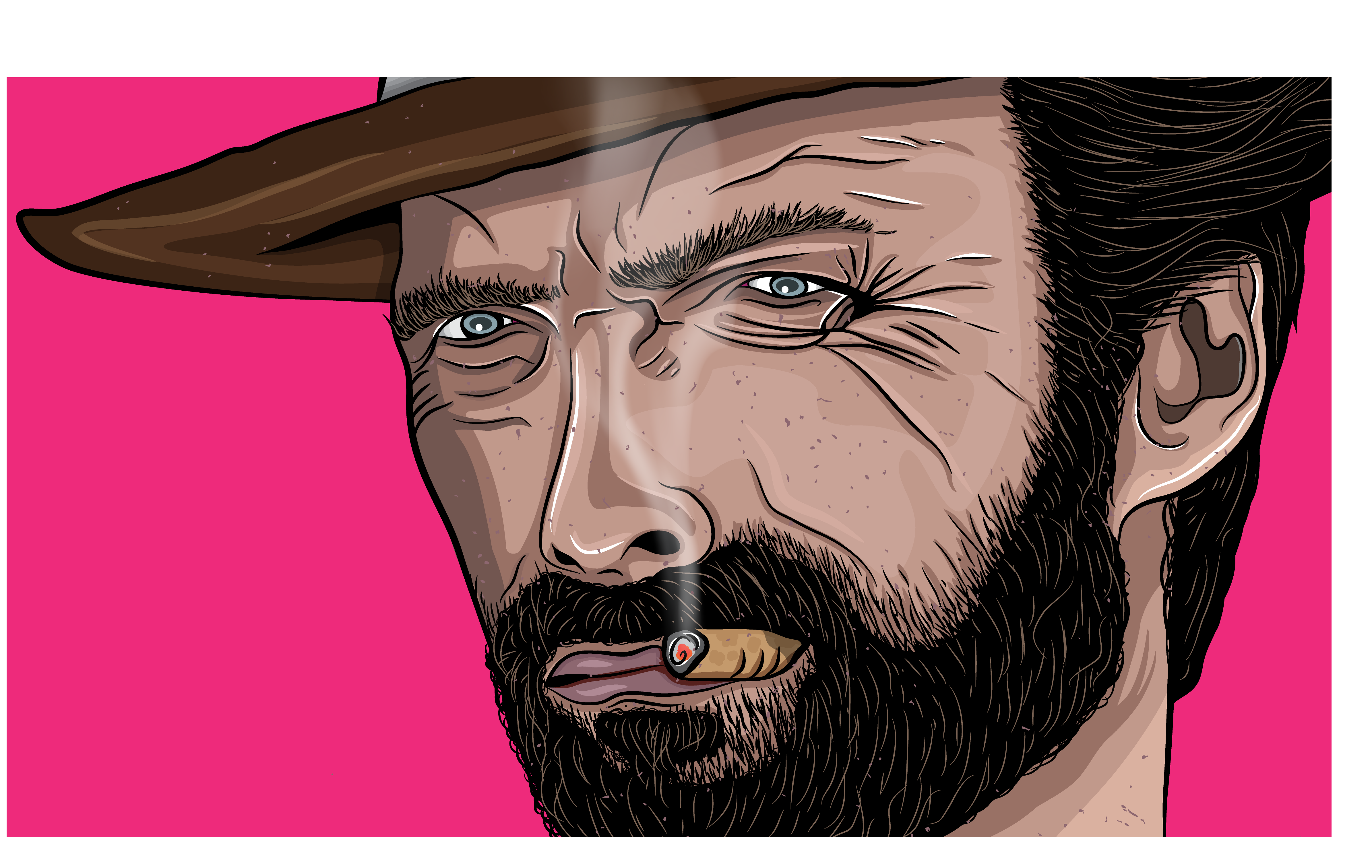 Clint Eastwood illustration
